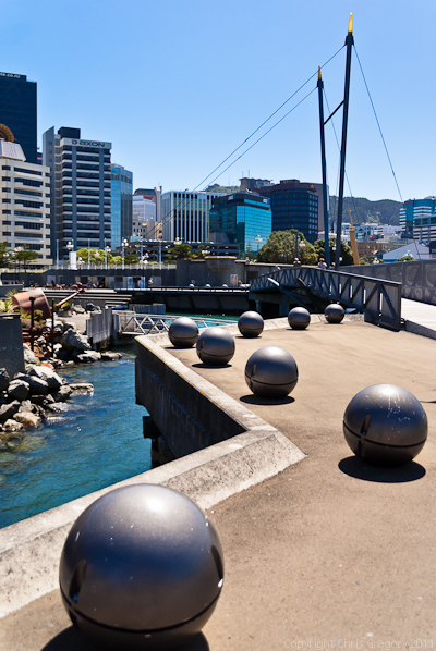 Zig Zag of Light Balls on Wellington Waterfront, New Zealand