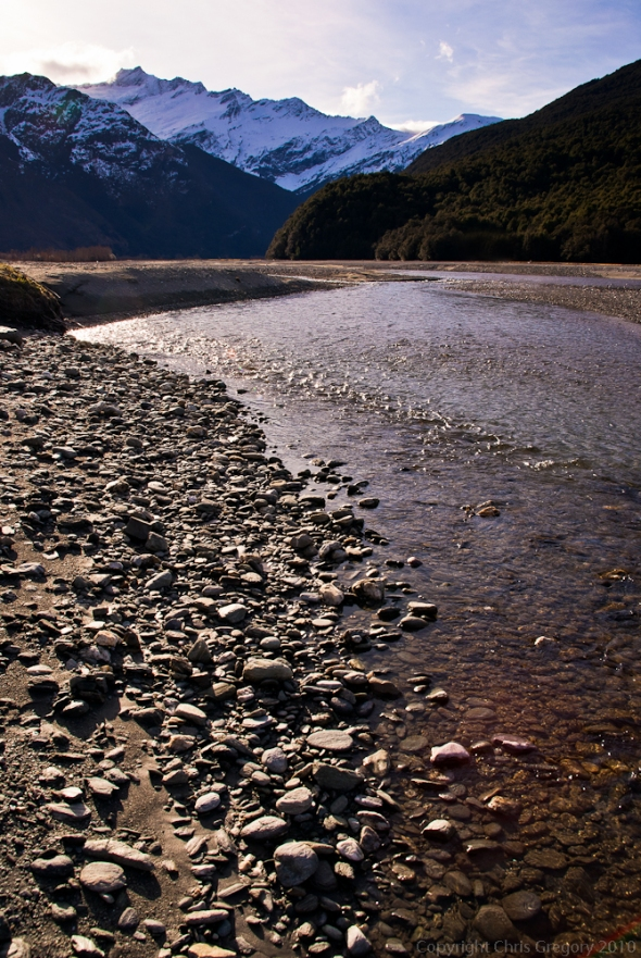 Matukituki River, Mt Aspiring National Park, South Island, New Zealand, Copyright Chris Gregory 2011