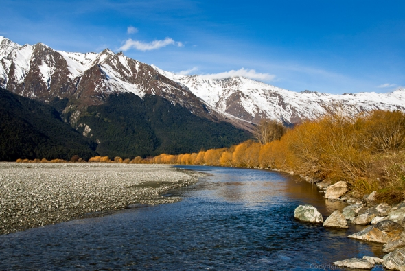 Matukituki River Valley at Sunset, Mt Aspiring National Park, Central Otago, Copyright Chris Gregory 2011