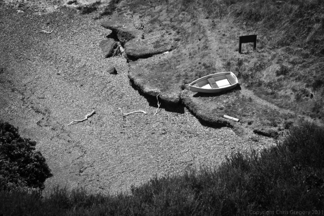 Coastal track, Waiheke Island, Cable Bay, Dinghy, Auckland, New Zealand, Copyright Chris Gregory 2011