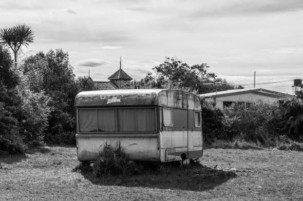 Caravan, Aramoana, Otago, New Zealand, Copyright Chris Gregory 2012