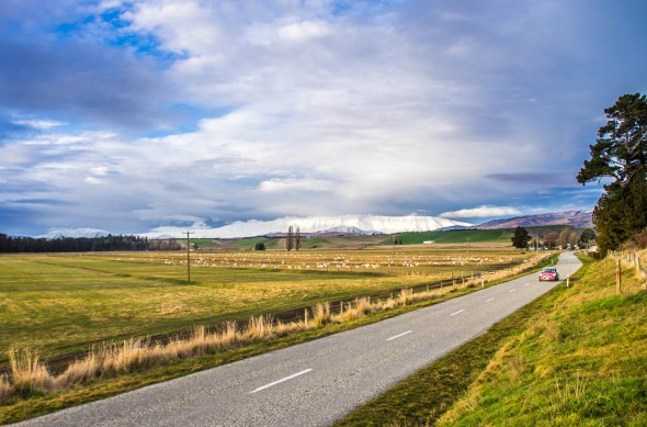 Country Road, Tarris, Central Otago, New Zealand, Copyright Chris Gregory 2012