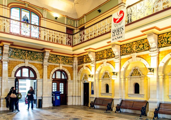 Dunedin Railway Station Atrium, Dunedin, Otago, New Zealand, Copyright Chris Gregory 2012