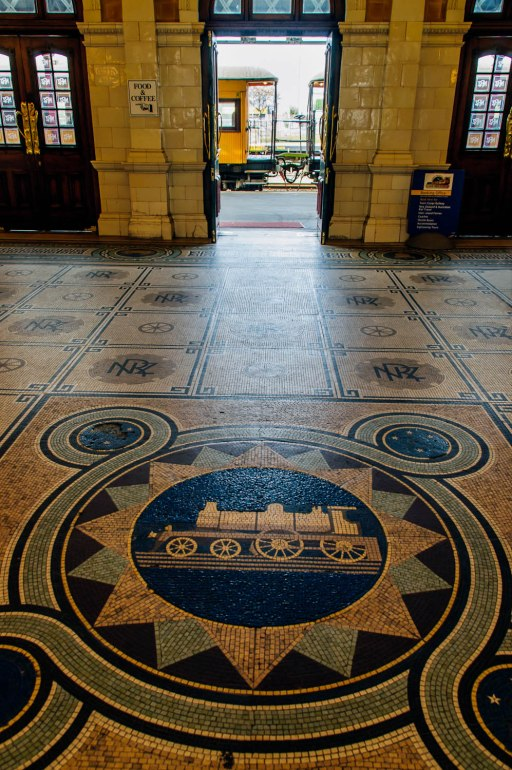 Dunedin Railway Station Floor Tiles, Dunedin, Otago, New Zealand, Copyright Chris Gregory 2012