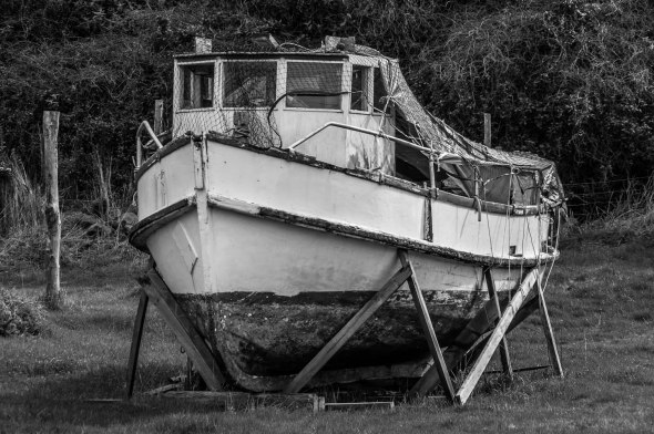 High and Dry, Fishing Boat, Aramoana, Otago, New Zealand, Copyright Chris Gregory 2012