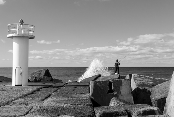 Fishing, Breakwater, Gold Coast Seaway, Southport Spit, Queensland, Australia, Copyright Chris Gregory 2012
