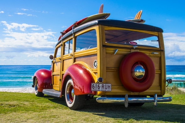 Surf'n Wagon, Main Beach, Surfers Paradise, Queensland, Australia, Copyright Chris Gregory 2012