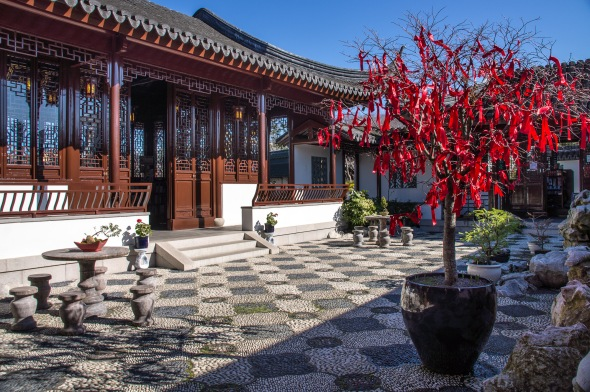Courtyard, Chinese Garden, Dunedin, Otago, New Zealand, Copyright Chris Gregory 2012
