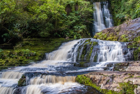 McLean Falls, Tautuku River, Catlins Forest Park, Southland, New Zealand, Copyright Chris Gregory 2012
