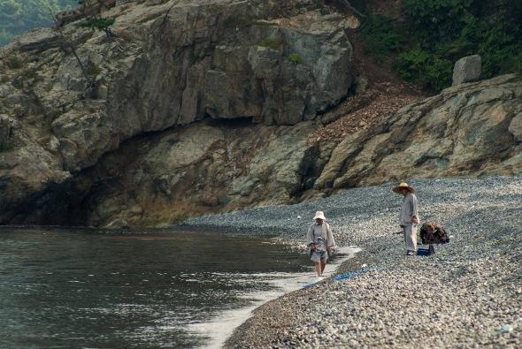 Monks Swimming, Geojedo, Busan, South Korea, Copyright Chris Gregory 2008