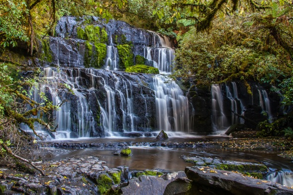 Purakaunui Falls, Catlins, Southland, New Zealand, Copyright Chris Gregory 2010