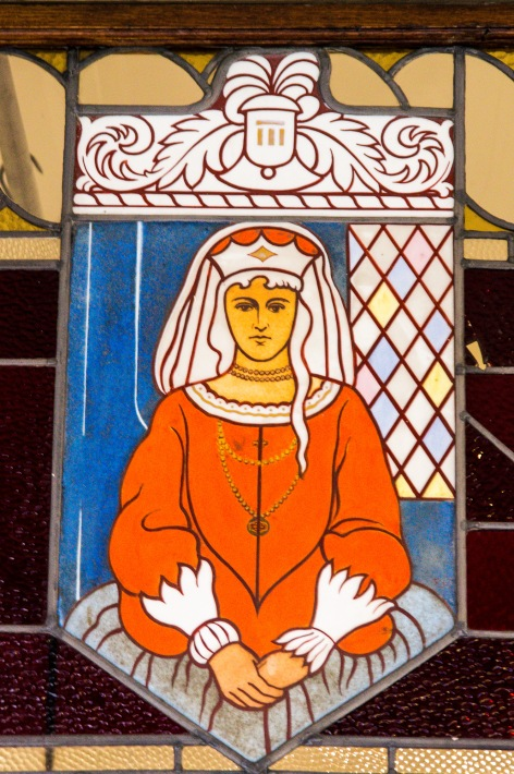Queen Anne, Stained Glass, Dunedin, New Zealand, Copyright Chris Gregory 2012
