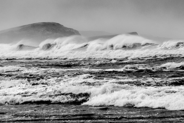 Surf at Porpoise Bay, Catlins, Southland, New Zealand, Copyright Chris Gregory 2012