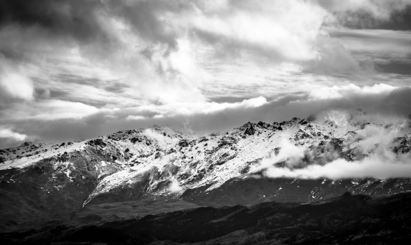 Pisa Range at Sundown, Tarris, Otago, New Zealand, Copyright Chris Gregory 2012