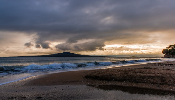 Rangitoto Grey Dawn, Auckland, New Zealand, Copyright Chris Gregory 2009