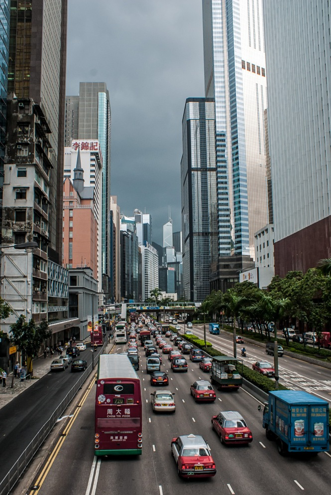 Gloucester Road, Wan Chai, Hong Kong, China, Copyright Chris Gregory 2012