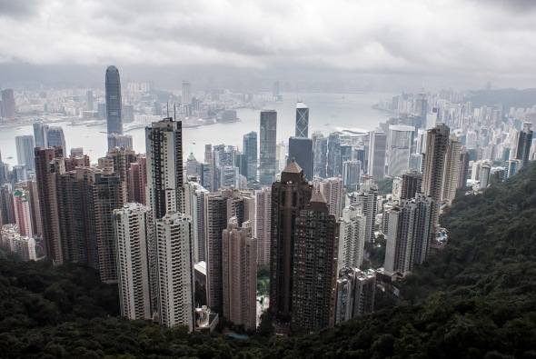 View from The Peak, Hong Kong, China, Copyright Chris Gregory 2012
