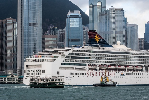 """Virgo"" and Star Ferry, Hong Kong, China, Copyright Chris Gregory 2012"