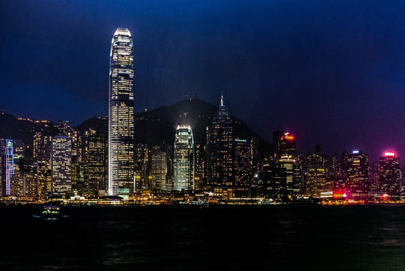 Central at Night from Kowloon, Hong Kong, China, Copyright Chris Gregory 2012
