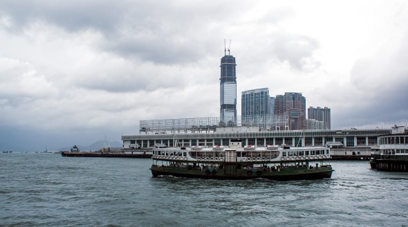 Ferry leaving Star Ferry Pier at Kowloon, Hong Kong, China, Copyright Chris Gregory 2012