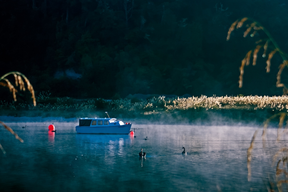 Morning Mist, Lake Wakaremoana, New Zealand, Copyright Chris Gregory 2013