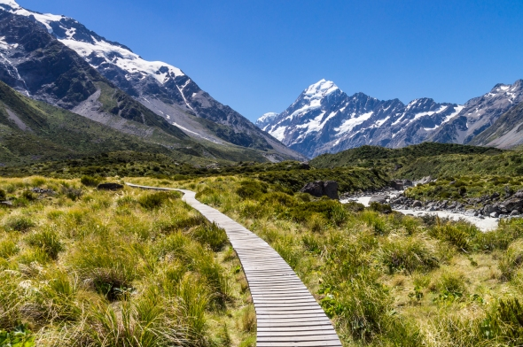 Boardwalk, Hooker Valley, Aoraki Mt Cook, New Zealand, Copyright Chris Gregory 2013