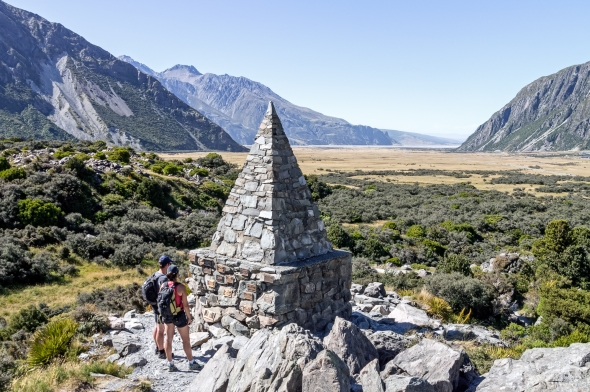Alpine Memorial, Hooker Valley, Aoraki Mt Cook, Copyright Chris Gregory 2013