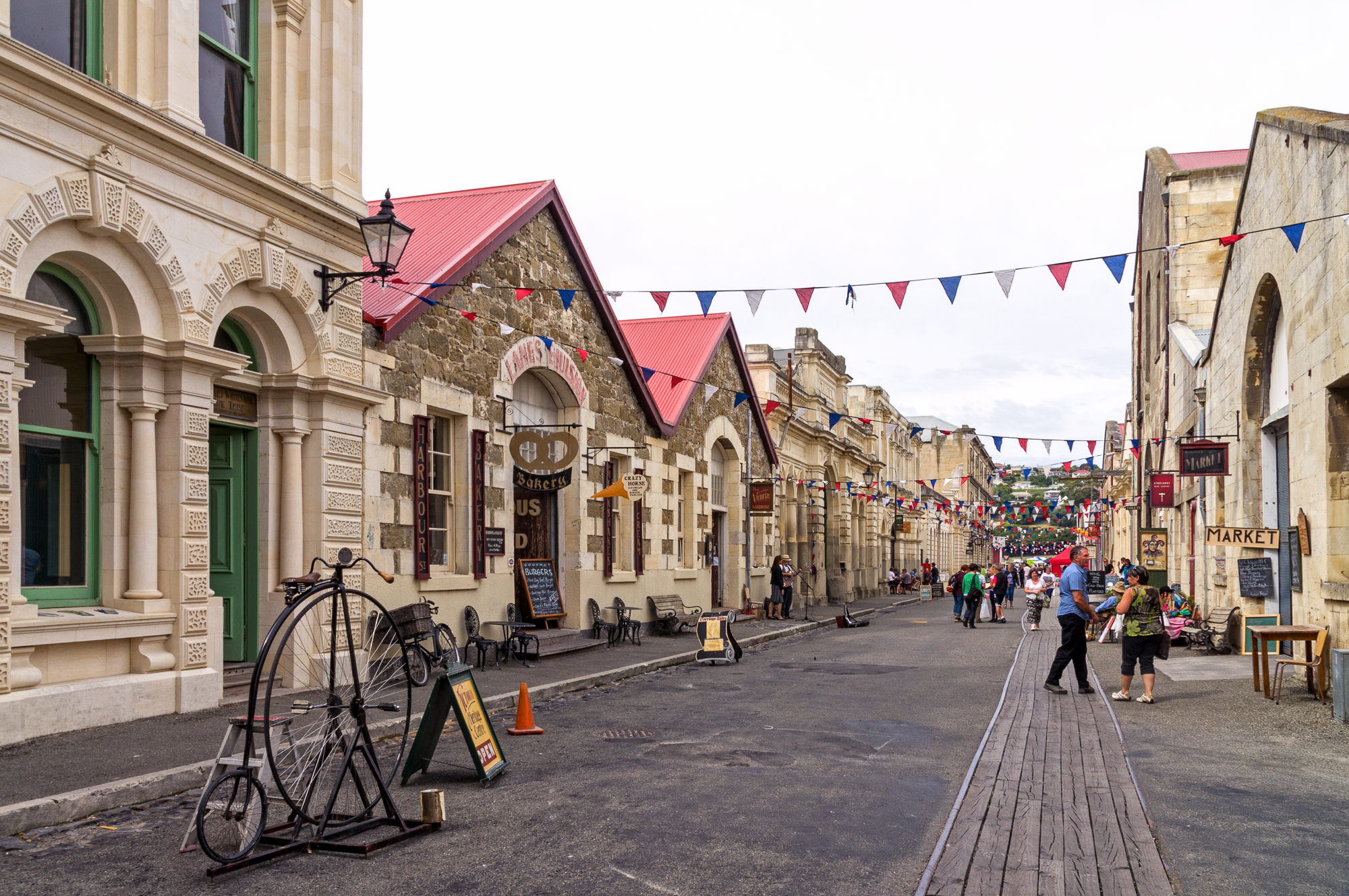 Oamaru New Zealand  City new picture : Harbour Street, Oamaru, New Zealand, Copyright Chris Gregory 2013