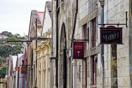 signs, Harbour Street, Oamaru, New Zealand, Copyright Chris Gregory 2013