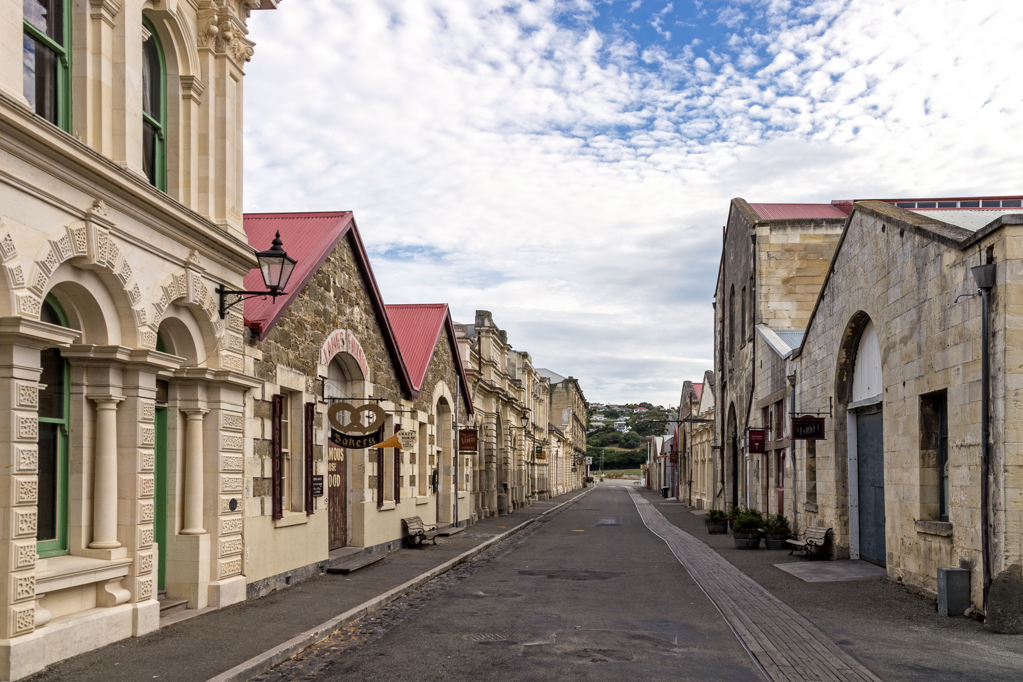 Oamaru New Zealand  City pictures : Harbour Street, Oamaru, New Zealand, Copyright Chris Gregory 2013