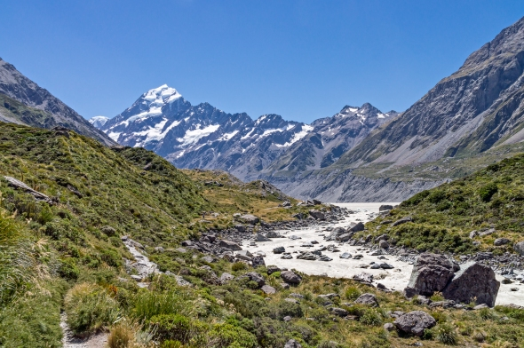 Hooker River and Aoraki Mt Cook, New Zealand, Copyright Chris Gregory 2013