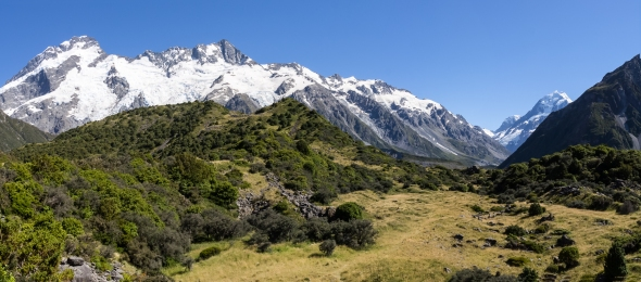 Hooker Valley and Aoraki Mt Cook, New Zealand, Copyright Chris Gregory 2013