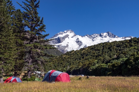 Camping Ground, Aoraki Mt Cook, New Zealand, Copyright Chris Gregory 2013