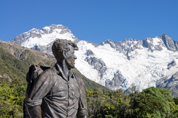 Sir Edmund Hillary, Aoraki Mt Cook, New Zealand, Copyright Chris Gregory 2013