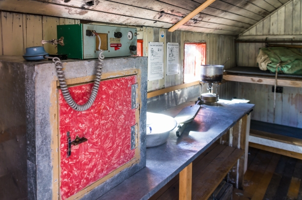 Inside Empress Hut, Aoraki Mt Cook, New Zealand, Copyright Chris Gregory 2013