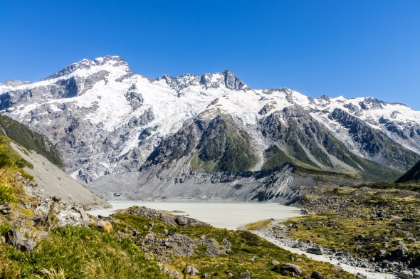 Mt Seton and the Mueller Glacier Lake, New Zealand, Copyright Chris Gregory 2013