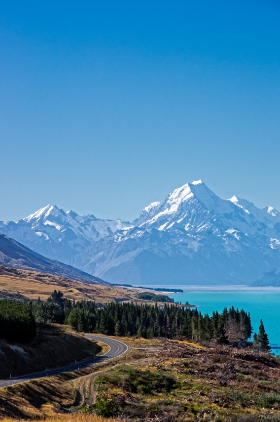 Road to Mt Cook, South Canterbury, New Zealand, Copyright Chris Gregory 2013