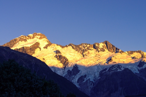 Mt Sefton, Sunrise, New Zealand, Copyright Chris Gregory 2013