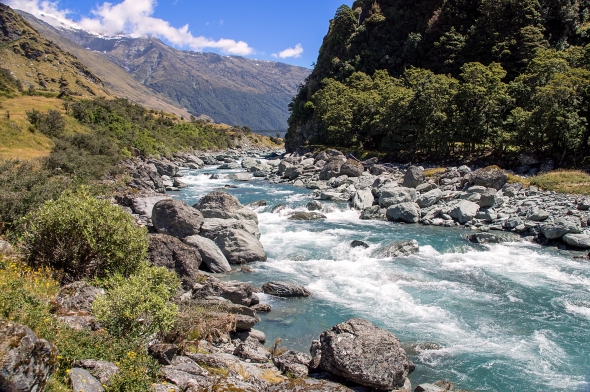 West Branch Matukituki River, Otago, New Zealand, Copyright Chris Gregory 2013
