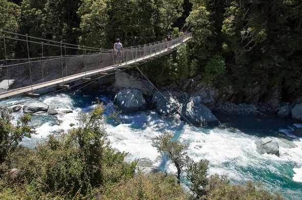 Swing Bridge, West Branch Matukituki River, Otago, New Zealand, Copyright Chris Gregory 2013