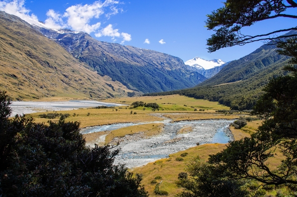 Rob Roy Stream and West Branch Matukituki River, Otago, New Zealand, Copyright Chris Gregory 2013
