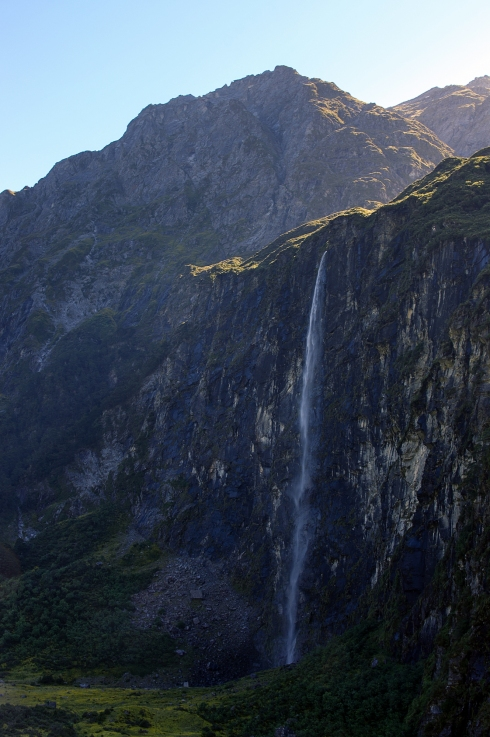 Waterfall, Rob Roy Glacier, Otago, New Zealand, Copyright Chris Gregory 2013