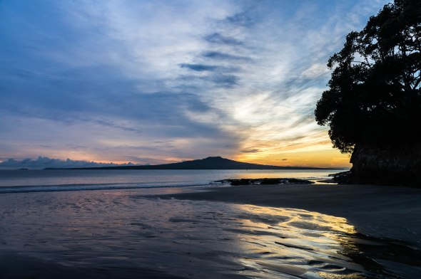Takapuna Autumn Sunrise, Auckland, New Zealand, Copyright Chris Gregory 2013