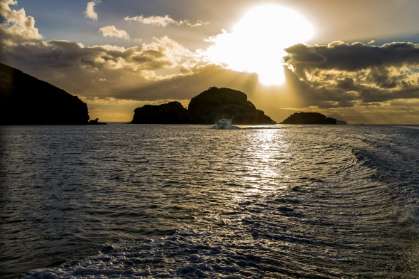 Sunset, Port Abercrombie, Great Barrier Island, New Zealand, Copyright Chris Gregory 2013