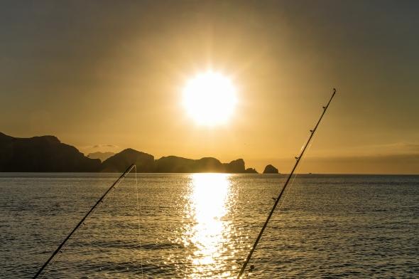 Sinking Sun, Great Barrier Island, New Zealand, Copyright Chris Gregory 2013