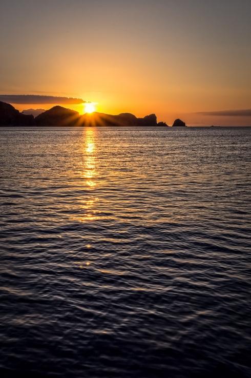 Motuhaku and Sugarloaf Islands, Sunset, Great Barrier Island, New Zealand, Copyright Chris Gregory 2013