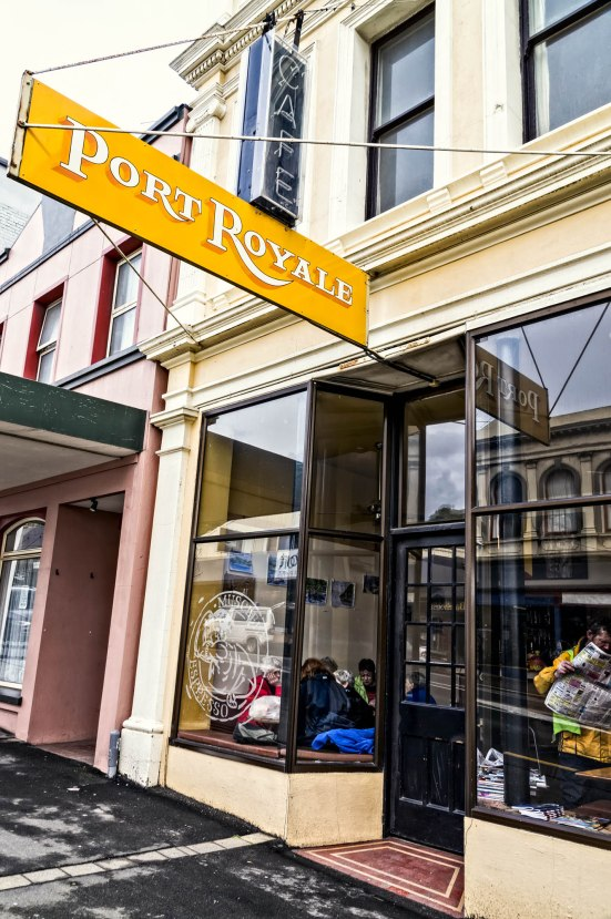 Port Royale Cafe, Musseled Espresso, Port Chalmers, Otago, New Zealand, Copyright Chris Gregory 2013