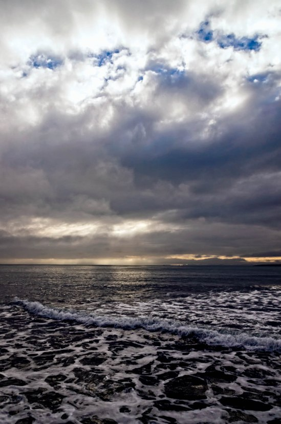 Cloudy Dawn, Takapuna Beach, Auckland, New Zealand, Copyright Chris Gregory 2013