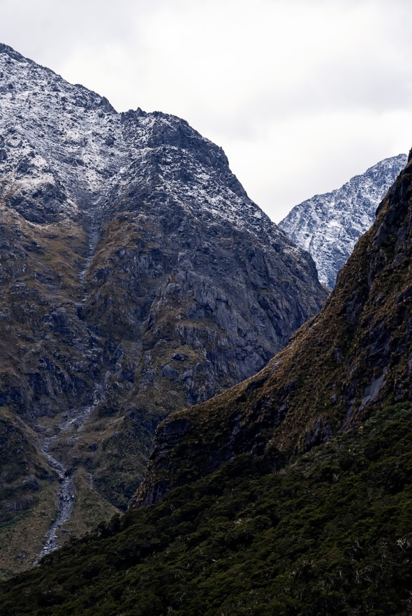 Moody Mountains, Homer Tunnel, Fiordland, New Zealand, Copyright Chris Gregory 2013