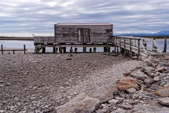 Wooden Jetty, Okarito, Westland, New Zealand, Copyright Chris Gregory 2013